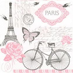 Paris, kolo, růžový 33x33