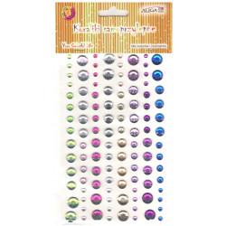 Samolepící kamínky barevný mix 4