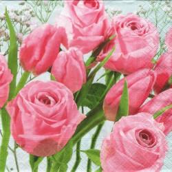 Tulipány mezi růžemi 33x33