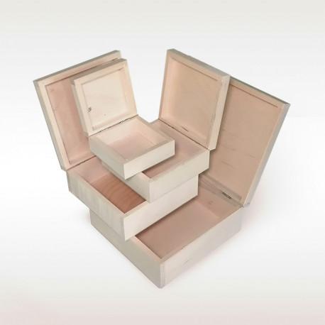 Dřevěné krabice 4v1 čtvercové (19)