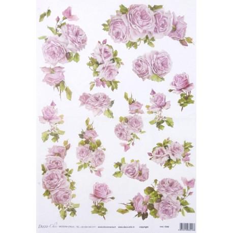 Papír rýžový 35x50 Růžové růže