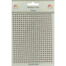 Samolepící perličky 3mm Tmavě růžovozlaté (Dixi Craft)