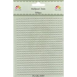 Samolepící perličky 3mm Bílé (Dixi Craft)