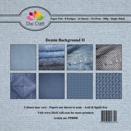 Sada papírů 15x15 Denim, pozadí II. (Dixi Craft)