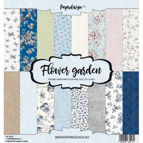 Sada papírů 30,5x30,5 170g Flower Garden (Papirdesign)