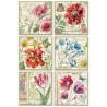 Papír rýžový A4 Květy, šest obrázků