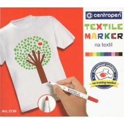 Souprava fixů na textil, 10 barev (Centropen)