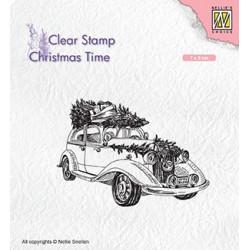 Transp.razítko Vánoční automobil (Nellie´s Choice)