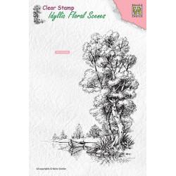 Transp.razítko Idylická scéna - stromy a loďka (Nellie´s Choice)