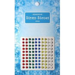 Samolepící štrasové kamínky 4mm - směs 001 Nellie´s Choice