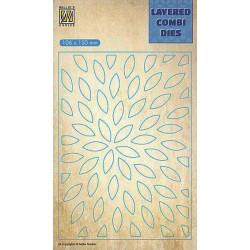 Vyřezávací šablona Layered Combi Dies - paprsky B
