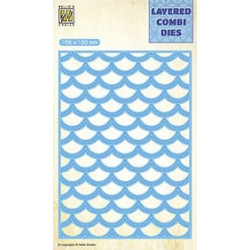 Vyřezávací šablona Layered Combi Dies - vlny C