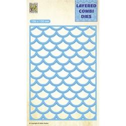 Vyřezávací šablona Layered Combi Dies - vlny B