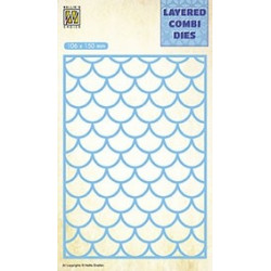 Vyřezávací šablona Layered Combi Dies - vlny A