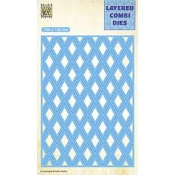 Vyřezávací šablona Layered Combi Dies - mřížka C