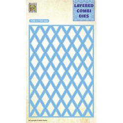 Vyřezávací šablona Layered Combi Dies - mřížka B