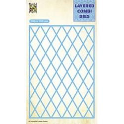 Vyřezávací šablona Layered Combi Dies - mřížka A