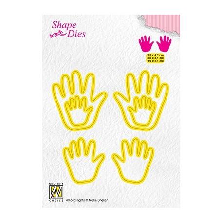 Vyřezávací šablony - 3x ručičky (Nellie´s Choice)
