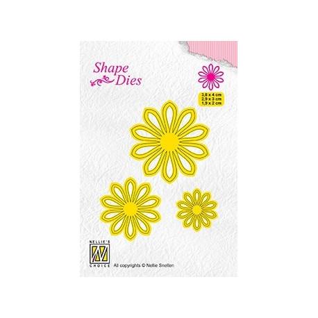 Vyřezávací šablony - 3x květina (Nellie´s Choice)