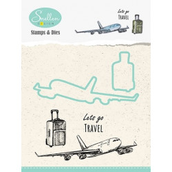 "Set razítek a šablon - Prázdniny ""letadlo"" (Nellie´s Choice)"