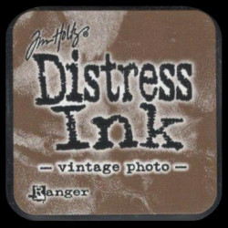 Distress Ink MINI polštářek - Vintage Photo