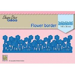 Vyřezávací šablona - Květinová bordura (Nellie´s Choice)