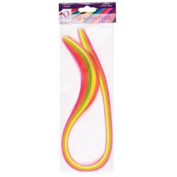 Set quillingových proužků 3mm, 100ks - neonové barvy (docrafts)