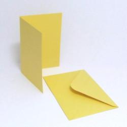 Přáníčko a obálka A6 pastelová žlutá
