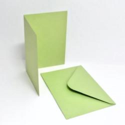 Přáníčko a obálka A6 pastelová zelená