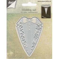 Vyřezávací šablona - Svatební oblek (JC)