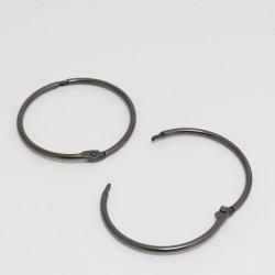 Kovový kroužek 51/56mm zavírací, černý - 1ks