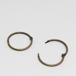 Kovový kroužek 38/45mm zavírací, bronz - 1ks