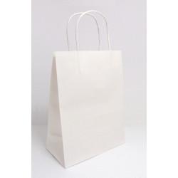 Papírová dárková taška bílá 26x20x10,8cm