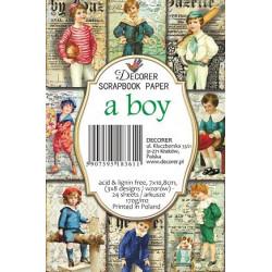 Sada scrap.kartiček 7x10,8cm - A Boy (Decorer)