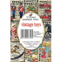Sada scrap.kartiček 7x10,8cm - Vintage Toys (Decorer)
