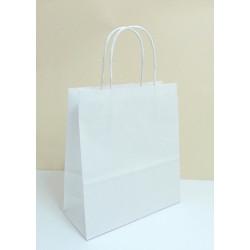 Papírová dárková taška bílá 19x8x21cm
