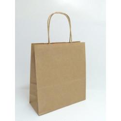 Papírová dárková taška kraft 19x8x21cm