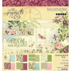 Sada papírů 20x20 Bloom (Graphic45)