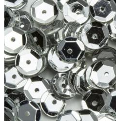 Sada flitrů prolamovaných 6mm - stříbrné