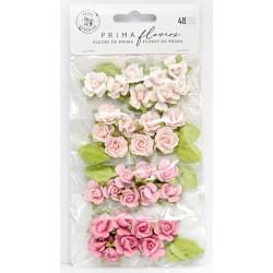 Sada papírových růžiček Raspberry Kisses (Prima Marketing)