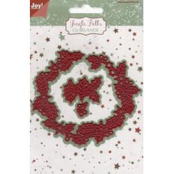 Vyřezávací šablony - vánoční věnec (JC)