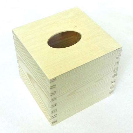 Dřevěná krabička na kapesníky čtvercová - typ 2