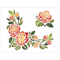 Šablona 20x15 - Růže