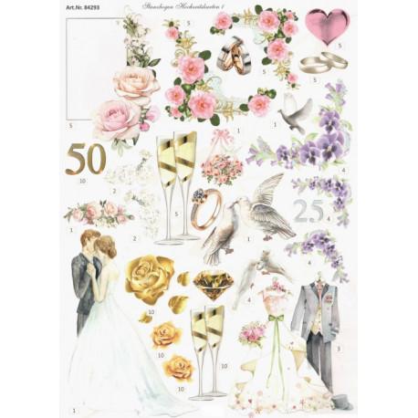 Papírové výseky - Svatební 1