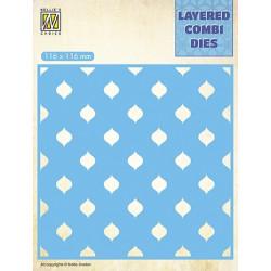 Vyřezávací šablona Layered Combi Dies - kapky C