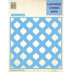 Vyřezávací šablona Layered Combi Dies - kapky B