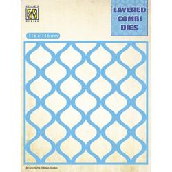 Vyřezávací šablona Layered Combi Dies - kapky A