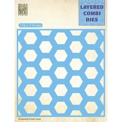 Vyřezávací šablona Layered Combi Dies - medová plástev B