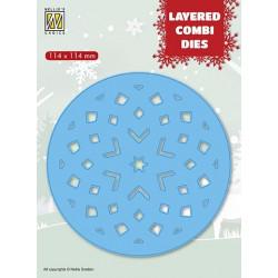 Vyřezávací šablona Layered Combi Dies - hvězda v kruhu C