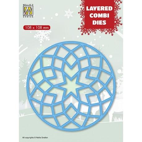 Vyřezávací šablona Layered Combi Dies - hvězda v kruhu A